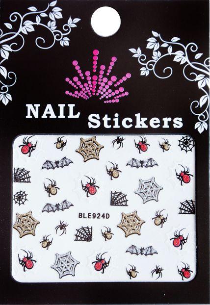 Bell'ure Nail Art Sticker Halloween Spiders & Webs
