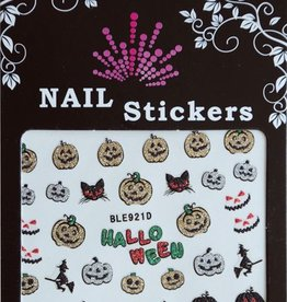 Bell'ure Nail Art Sticker Halloween Glitter Pumpkins