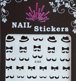 Bell'ure Nail Art Sticker Moustache Bows