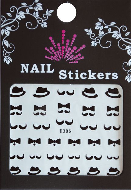 Bell'ure Nail Art Sticker Moustache Bows