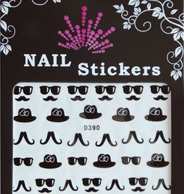 Bell'ure Nail Art Sticker Moustache Sunglasses