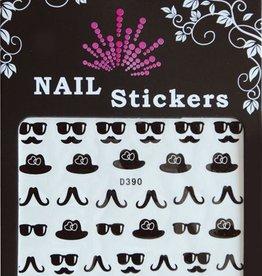 Bell'ure Nail Art Sticker Moustache Sunglasses