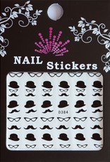 Bell'ure Nail Art Sticker Moustache Cat Eye Glasses