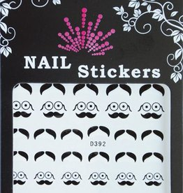 Bell'ure Nail Art Sticker Moustache Round Glasses