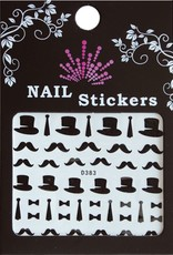 Bell'ure Nail Art Sticker Moustache High Hat