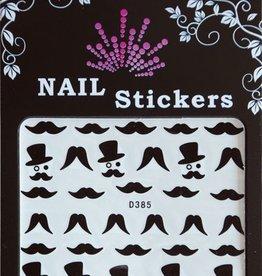 Bell'ure Nail Art Sticker Moustache Monocle