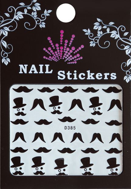 Bell'ure Nail Art Sticker Moustache Monocle