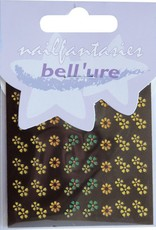 Bell'ure Nail Art Sticker Metallic Flowers