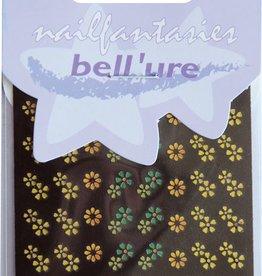 Bell'ure Nail Art Sticker Metallic Flowers