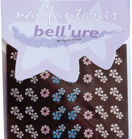 Bell'ure Nail Art Sticker Blue Metallic Flowers