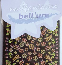 Bell'ure Nail Art Sticker Gold Metallic Flowers