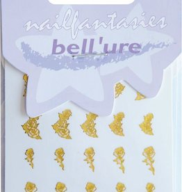 Bell'ure Nail Art Sticker Golden Roses