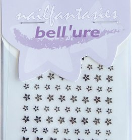 Bell'ure Nail Art Sticker Black Flowers Small