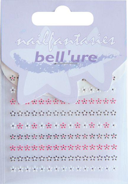 Bell'ure Nail Art Sticker Red Flowers