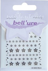 Bell'ure Nail Art Sticker Black Flowers
