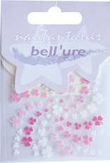 Bell'ure Nail Art Sticker Clover Pink & White