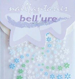 Bell'ure Nail Art Sticker Blue & Green Flowers