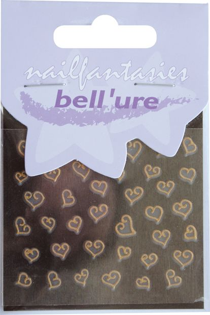 Bell'ure Nail Art Sticker Hearts of Gold