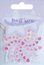 Bell'ure Nail Art Sticker Hearts Pink