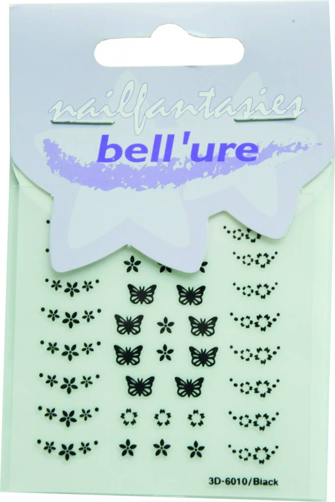Bell'ure Nail Art Sticker Butterfly Black
