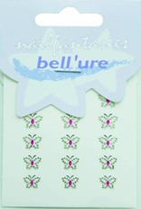 Bell'ure Nail Art Sticker Butterfly Pink