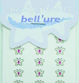 Bell'ure Nail Art Sticker Butterfly Black 2