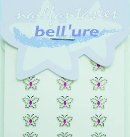 Bell'ure Nail Art Sticker Butterfly Pink