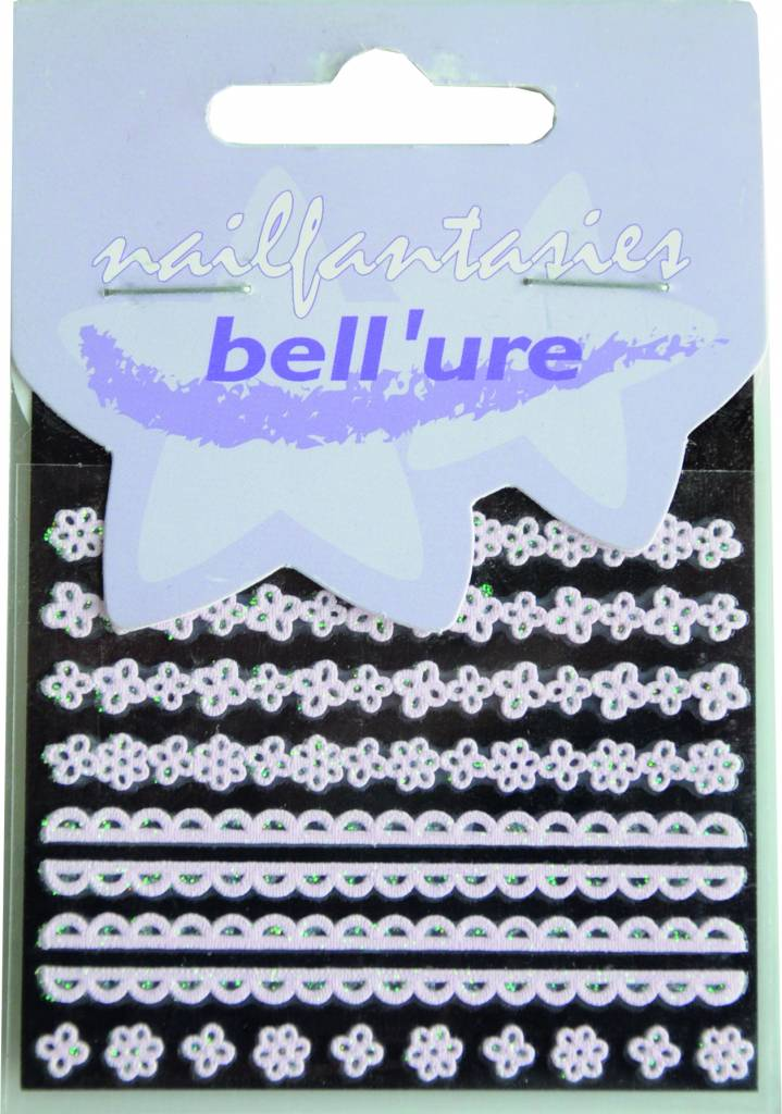 Bell'ure Nail Art Sticker Lace Pink