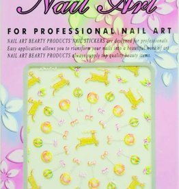 Bell'ure Nail Art Sticker Christmas Balloons