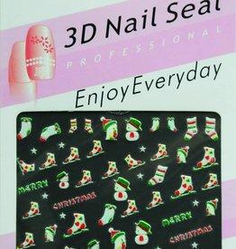 Bell'ure Nail Art Sticker Christmas Skis