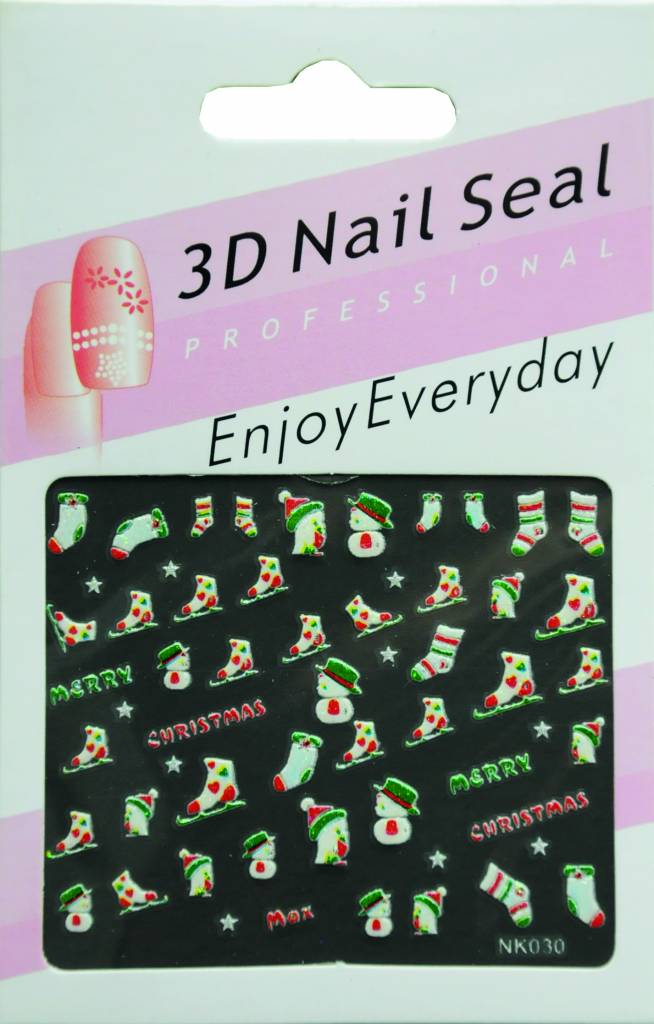 Bell'ure Nail Art Sticker Christmas Skis