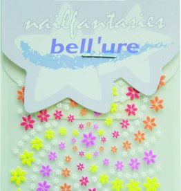 Bell'ure Nail Art Sticker Multicolor Flowers
