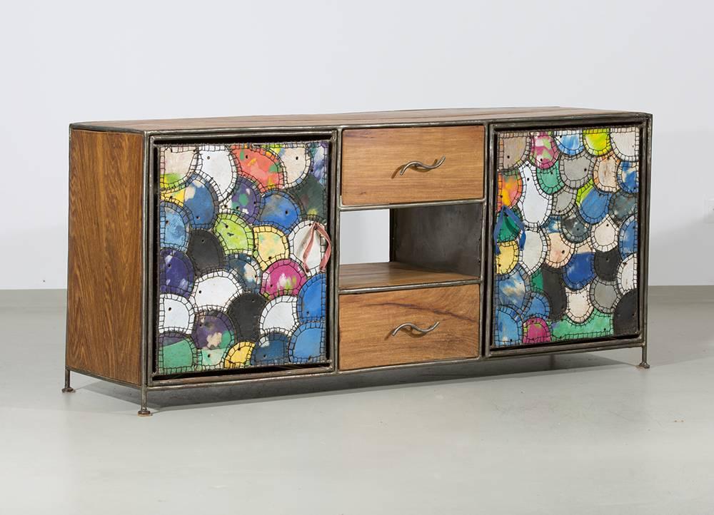 sideboard flip flop aus westafrika recycelt unikat. Black Bedroom Furniture Sets. Home Design Ideas