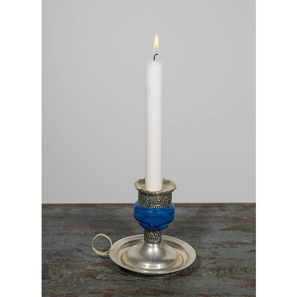 Kerzenhalter, blau