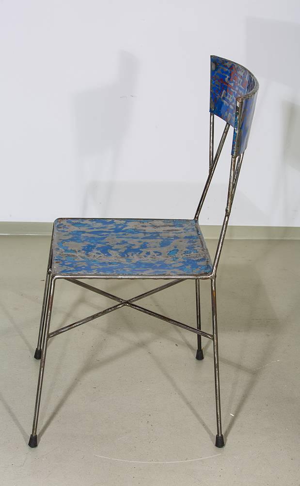 Stuhl stahlblech im industriedesign for Stuhl industriedesign