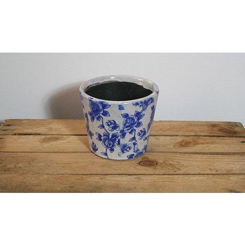 Keramik-Übertopf, glänzend