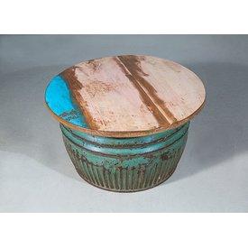 Couchtisch Bareilly II, Industriedesign, Durchmesser: 55 cm