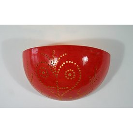 Wandlampe Kalebasse, Magenta