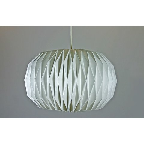 Papierlampe Origami, weiss