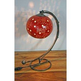 Tischlampe Kalebasse I, rot