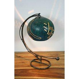 Tischlampe Kalebasse I, petrol