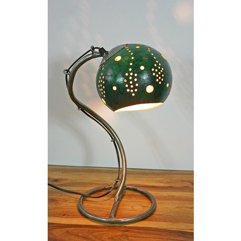 Tischlampe Kalebasse II, dunkelgrün