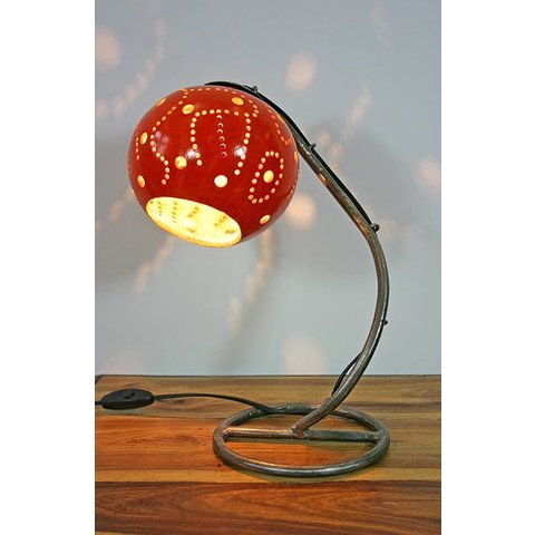 Tischlampe Kalebasse II, orange