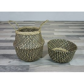 2 in 1: Seegras Korb & Schale Sikar, 30 cm