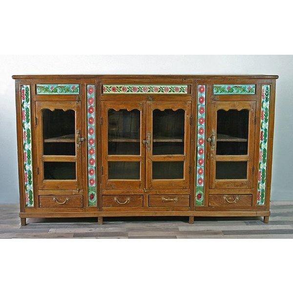 Vitrinenschrank/Sideboard Agra - antik