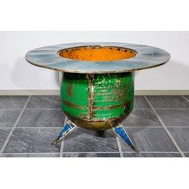 Couchtisch Dori mit Bareinsatz und Glasplatte