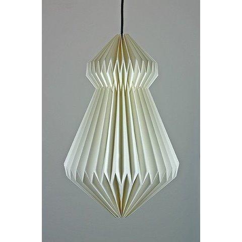 Papierlampe Origami, weiß