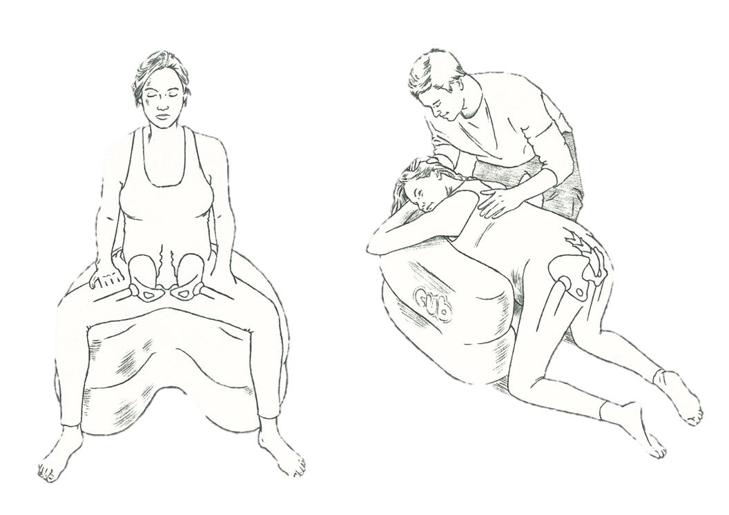 CUB bevallingshoudingen bekken