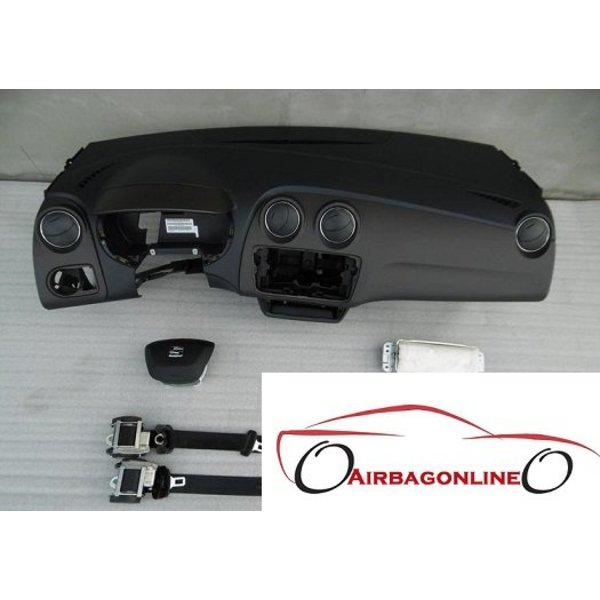 Seat Ibiza 6J Facelift Complete Airbag Set Dashboard