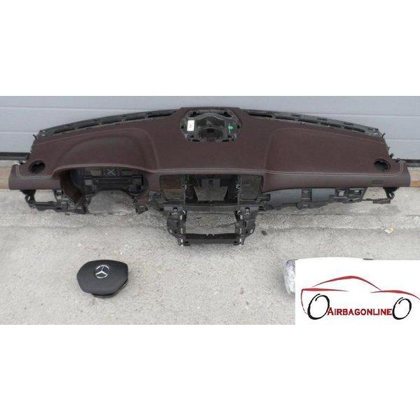 Mercedes ML W166 Airbag Set Dashboard Bruin Leer